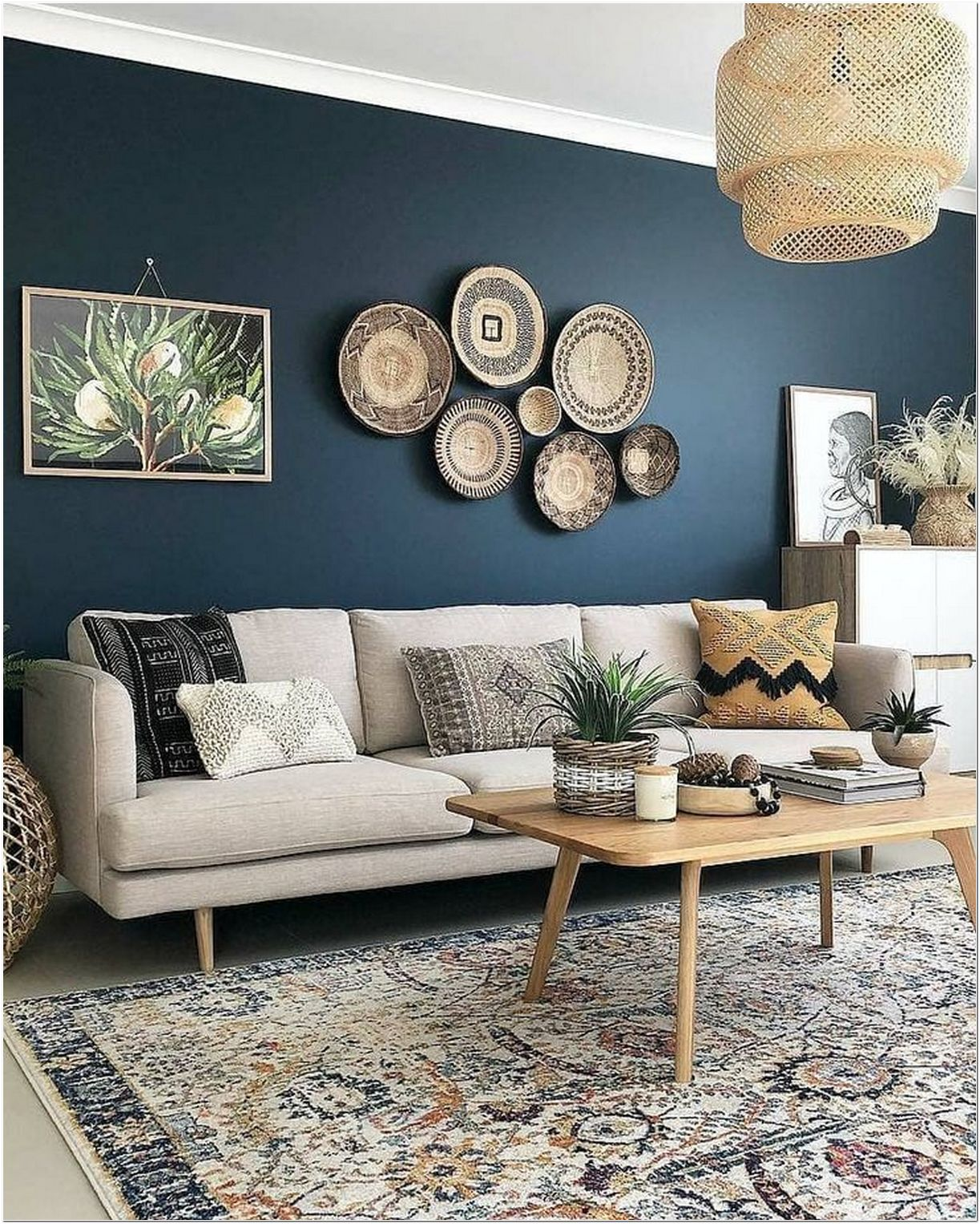65 We've Spent All Day Dreaming About These Living Room Wall Decor Ideas