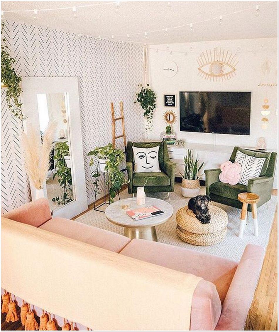 77 Boho Living Room Interior Design And Color Ideas Myhomeorganic
